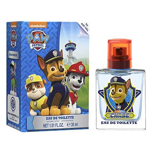 Paw Patrol Eau de Toilette Natural Spray- Parfüm im schönen Glasflakon mit Chase Motiv (30ml)