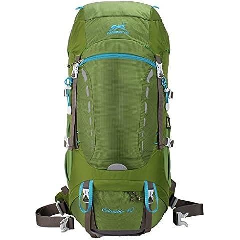 Eshow Mochilas unisex ligero de nylon resistente al agua Senderismo Mochila de acampada para deportes al aire libre 40L