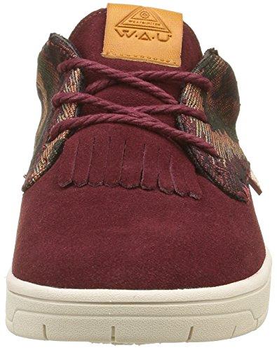 WAU Boho, Sneaker Basse Donna Rosso (Rouge (Burgundy))