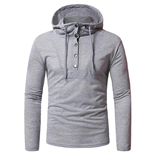 Fastener Sweatshirts Fashion Herren Herbst Langarm Hoodie Top Bluse GreatestPAK