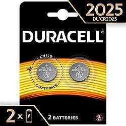 Pile Bouton Lithium Duracell Spéciale 2025 3V, Pack de 2 (DL2025/CR2025), Conçue pour une Utilisation dans les Porte-Clés, Balances et Dispositifs Portables et Médicaux