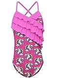Funnycokid Bambina Rainbow Unicorn Costumi da Bagno Costumi da Bagno Costumi da Bagno Bikini