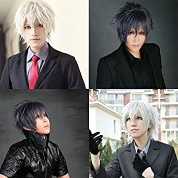 Cosplay Wigs Short Anime Costume Party Full Wigs Dark Red Fashion Straight Synthetic Hair For Women Men 5