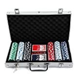 AllRight Poker Chips Set Game Poker Casino Poker Set 300 Pcs In Aluminium
