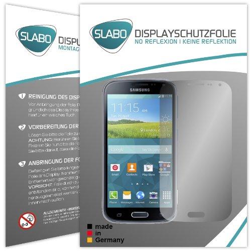Slabo 2 x Bildschirmschutzfolie für Samsung Galaxy K Zoom Bildschirmschutz Schutzfolie Folie No Reflexion Keine Reflektion MATT - Entspiegelnd MADE IN GERMANY