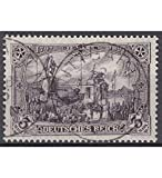 Goldhahn Deutsches Reich Nr. 96 A I b gestempelt 3 Mark Friedensdruck Briefmarken für Sammler