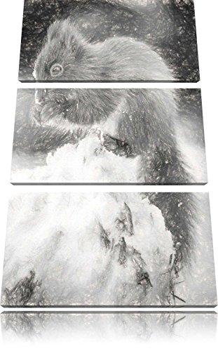 piccolo-scoiattolo-immagine-inverno-effetto-disegno-a-carboncino-3-pezzi-picture-tela-120x80-in-su-t