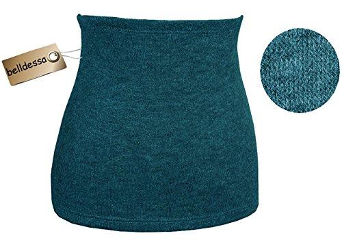 Belldessa Angora Wolle - türkis / Petrol blau - Nierenwärmer / Bauchwärmer / Rückenwärmer - Größe: Damen Frauen XS - ideal auch für Blasenentzündung und Hexenschuss / R..