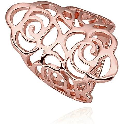 Nuovo Arrivo NYKKOLA gioielli Hollow Pattern Corona placcato in oro rosa 18K anello per uomo e donna