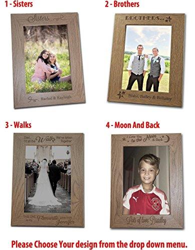 Personalised Wooden Photo Frame Personalised Wedding Gift