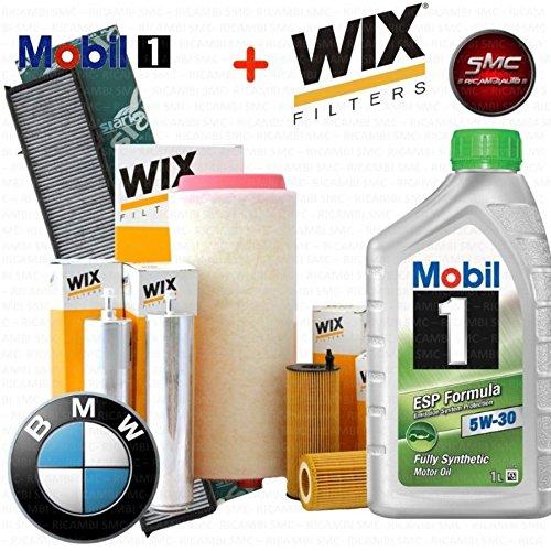 Kit tagliando olio MOBIL 1 ESP 5W30 7LT 4 FILTRI WIX (WL7283, WF8263, WA6574, V3229)