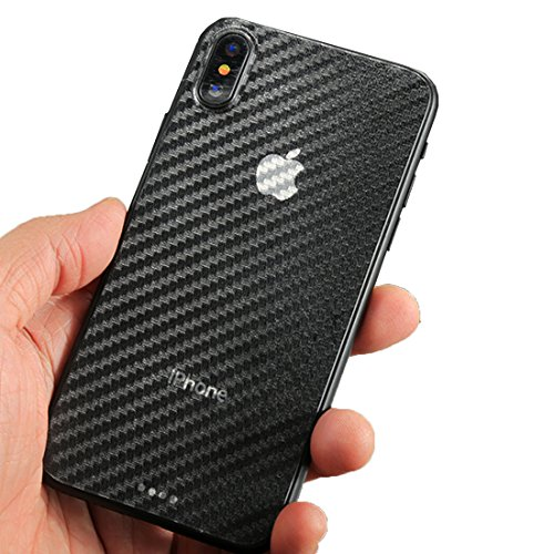 wortek iPhone X Skin Carbon-Style Sticker Branding für Smartphone haftende Design-Folie für Handy Backcover Aufkleber Transparent
