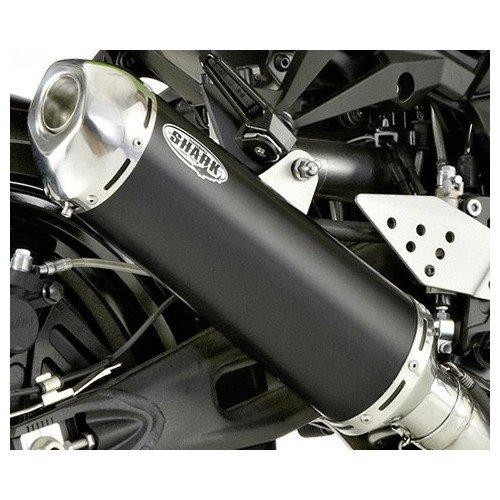 Preisvergleich Produktbild SHARK Auspuff DSX-5 schwarz /poliert m. EG /BE HONDA CBF 600 04-07 PC38