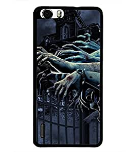 PrintDhaba Hands D-4884 Back Case Cover for HUAWEI HONOR 6 (Multi-Coloured)