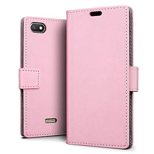 SLEO Funda para Xiaomi Redmi 6A Carcasa Libro de Cuero Ultra Delgado Billetera Cartera [Ranuras de Tarjeta,Soporte Plegable,Cierre Magnético] Case Flip Cover