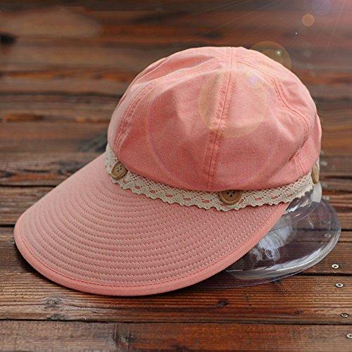 Chapeau de soleil d'été Été féminin Pliable chapeau de soleil Protecteur solaire Chapeau, vide Pour les voyages de plage sortants ( Couleur : 4 ) 1