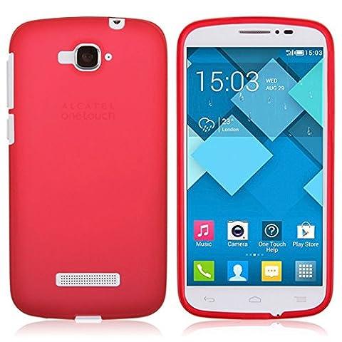 TBOC® Rot Gel TPU Hülle für Alcatel One Touch Pop C7 Ultradünn Flexibel Silikonhülle