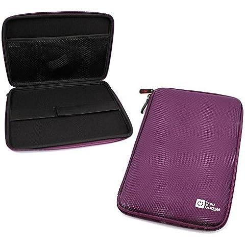 DURAGADGET Tough Water & Scratch-Resistant Purple EVA Zip Case for Sylvania SDVD7027, 7-Inch Portable DVD Player with Car Bag/Kit, Swivel Screen, USB/SD Card Reader by DURAGADGET