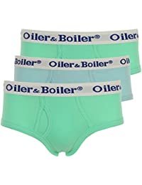 Oiler & Boiler 3-Pack Pastel Plains Hip Briefs, Green/Blue