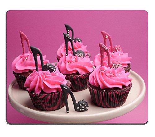 MSD Mousepad Bild-ID 20413828weiblich High Heel Schuhe Pink und Schwarz Rot Samt verziert Cupcakes mit High Heel Schuhe für Teenage weiblich Geburtstag oder Hochzeit Brautschmuck Dusche - Süße Schwarze Schuhe