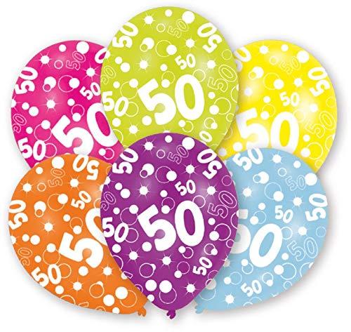 amscan Latexballons Globaldruck 50 (Halloween-party-spiele 8-9-jährigen Die Für)
