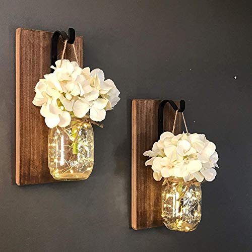 MMTX Applique da Parete Rustica, Mason Jar Sconce...