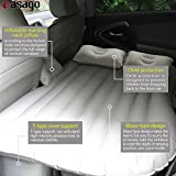 #4: Casago Car Back Seat Travel Air Inflation Bed Universal SUV Extended Air Couch with Two Air Pillows, Car Air Pump and Repair Kit, Multifunctional Inflatable Car Bed Mattress for Rest,Traval, Leisure and Entertainment (Random Colour)