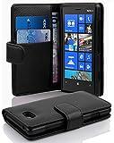 Cadorabo DE-100285 Nokia Lumia 820 Handyhülle mit Kartenfach aus struktriertem Kunstleder Schwarz