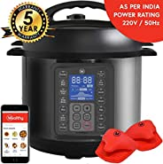 Mealthy MultiPot 9-in-1 Programmable Electric Pressure Cooker with Stainless Steel Pot, Steamer Basket and Ins