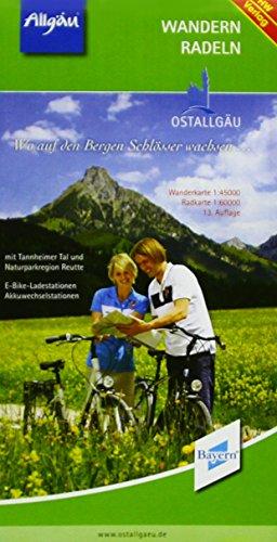 Preisvergleich Produktbild Wandern und Radeln im Ostallgäu: Wanderkarte 1 : 45 000, Radkarte 1 : 60 000. Mit Tannheimer Tal und Naturparkregion Reutte. E-Bike-Ladestationen, Akkuwechselstationen