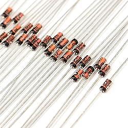 LaDicha 1020Pcs 2V ~ 47V 0.5W 1 / 2W Zener Diode 34 Werte Sortiment Kit