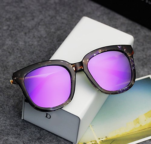 Sunyan Sterne der Sonnenbrille Mädchen rundes Gesicht der koreanischen Version Retro Tide Square Männer Ultra - schwarz Sonnenbrillen und Brillen, Glas Lila Tuxedo Lila - die Box +