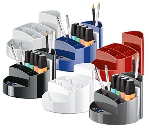 HAN 17460-13, Schreibtischköcher RONDO, Elegant, Hochglänzend, Premium Qualität mit 9 Fächern, schwarz - 3
