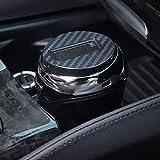 GPC Multifunktionaler Auto Aschenbecher - LED Lampe mit Deckel Universal Auto Persönlichkeit Kreative Auto Aschenbecher Hängen,Solarenergie,Aschenbecher