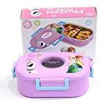 #8: G Darshan Steel Frozen Fever Pink Lunch Box (Multi-Colour)