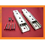 SUPERIOR HEAVY DUTY Headboard Concealed wall/Panel/Fitting bracket KIT.With fixings (Set of 2)