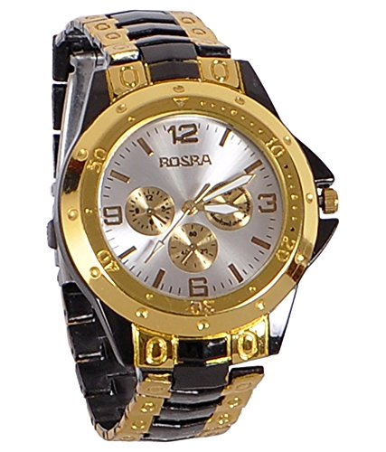 LegendDeal Rosra Analog Casual Classical White Dial Wrist Watch for Boys and Men - Rosra-1