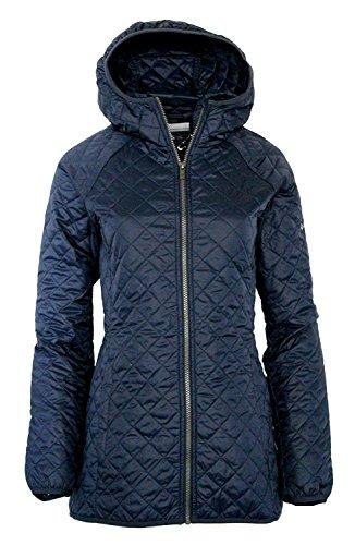 Columbia Women's Blue Square Lodge MId Lightweight Omni Heat Hooded Jacket (XS, Nocturnal) Elite Lightweight Vest
