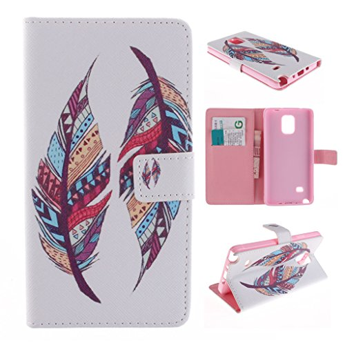 Nutbro [Galaxy Note 4] Note4 Case,Galaxy Note 4 Case,[Vertical Flip] iPhone Colorful Design Magnetic PU Leather Flip Case for Samsung Note 4 ZZ-Note4-11