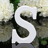 Decorativo Legno Lettere, Appeso Parete 26 Lettere Legno Alfabeto Parete Lettera per Camera Matrimonio Compleanno Partito Casa Decor, Gspirit (S)