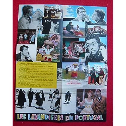 Dossier de presse de Les Lavandières du Portugal (1957) – 47x61cm - Film de Pierre Gaspard-huit avec JC Pascal, A Vernon, P Rico, D Cowl – Photos – résumé scénario – Bon état.