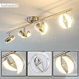 Deckenspot 8-flammig aus Metall - längliche LED Deckenlampe für Wohnzimmer - Flur - Küche - die Leuchtenköpfe sind beliebig dreh- und schwenkbar