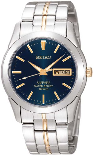 Gents Two Tone Seiko Quartz/Battery Watch on Stainless Steel Bracelet, with Sapphire Glass, Day & Date SGGA61P1.
