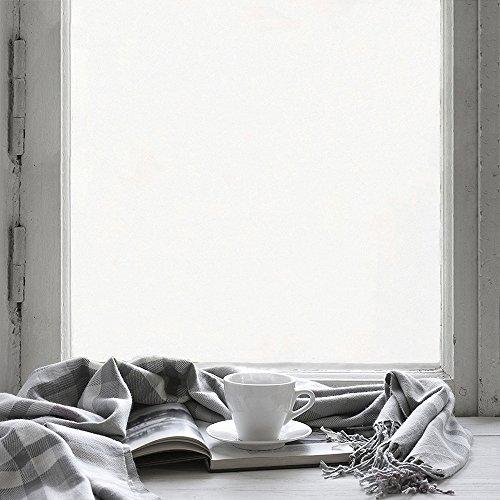 fancy-fix selbsthaftende Fensterfolie - statische Sonnenschutzfolie - UV-Schutz & Sichtschutz - Milchglasfolie zur Dekoration und Schutz der Privatsphäre (75 x 200 cm)
