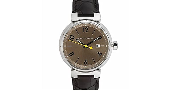 6147d28b3965 Louis Vuitton tambour Swiss-quartz montre pour homme Q1112 (certifié Pre- owned)  Louis Vuitton  Amazon.fr  Montres