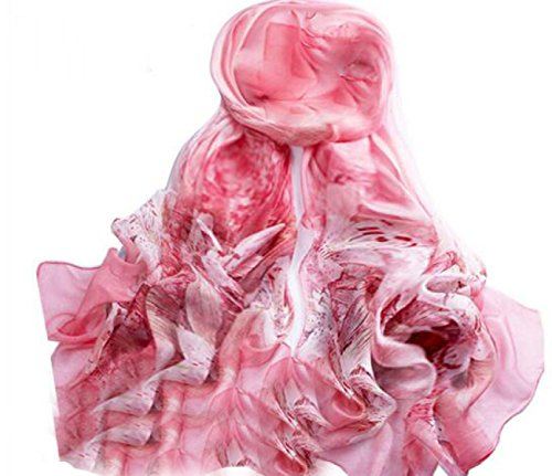 Tang moine 100% sciarpa di seta di lusso grafico satinato scialle wraps,pink-allcode
