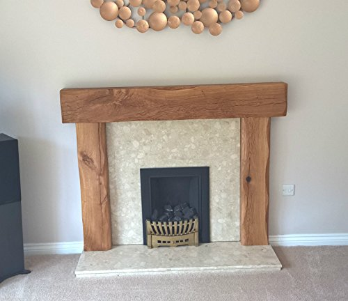 Fire Place Surround Solid French Oak Beams Floating Shelf Mantle ...