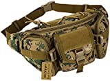 SUNVP Tactical Military Wait Bag Pack Fanny Bag Bumbag Hip Belt Pouch for Outdoors Running Camping Trekking Hiking