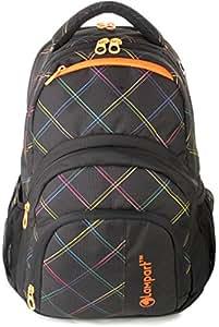 Lampart 28 Ltrs Black Casual Backpack (Lampart Iris Black Texture)