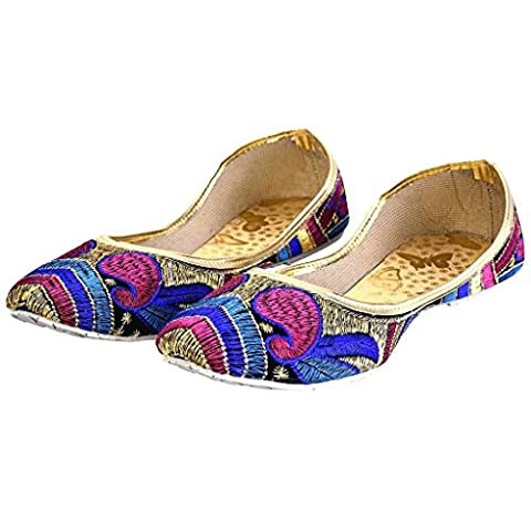 Fancy Zari Paisley Design Women Ballerina